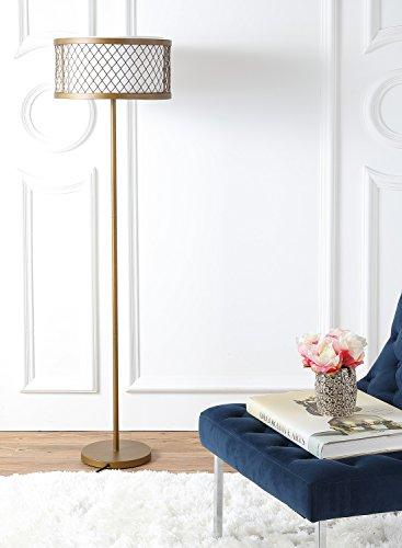 Safavieh Lighting Collection Evie Antique Gold 58.25-inch Floor Lamp -