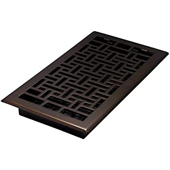 Decor Grates AJH612-RB Oriental Floor Register, 6-Inch by 12-Inch, Rubbed Bronze