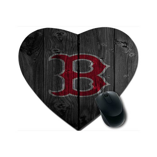 - Boston Red Sox Heart-shaped Mousepad Cloth Top Rubber Base 240*210*2 MM