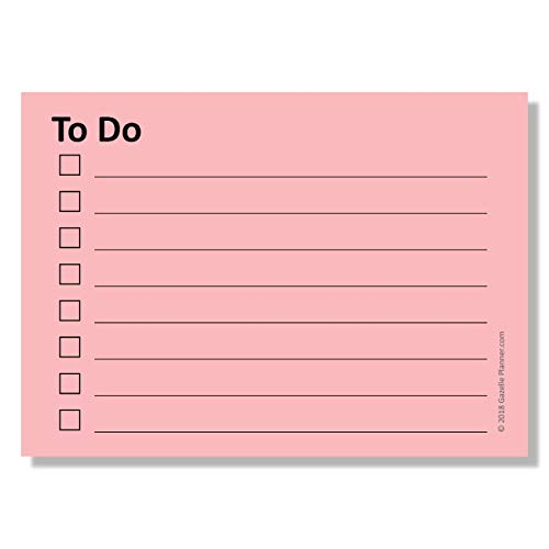 (Sticky Notes with to-Do List Planner & Checklist with Lines - 4 Pads/Pack, 100 Sheets/Pad, (400 Total Sheets), Pastel Pink (2.8 in x 4 in))