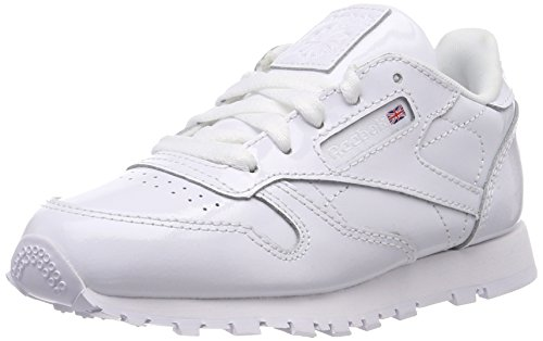 Reebok Unisex-Kinder Classic Leather Patent Sneaker Weiß (White)