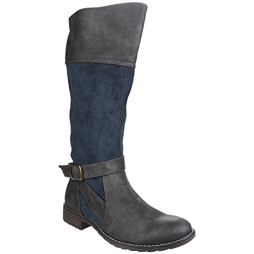 Grey Women's Divaz Navy Boots Boots Women's Divaz Grey Navy qOUnEfEZ