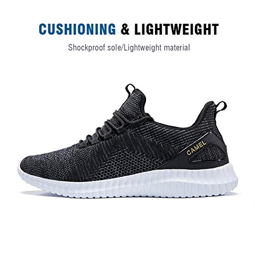 Pictures of Camel Men's Trail Running Shoes Lightweight Cushioning Breathable Athletic Sport Walking Sneakers for Gym Outdoor Black Size 10.0 7