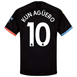 Puma Maillot Manchester City Away Kun Agüero 10 2019-2020 (Impression Officielle Premier League)