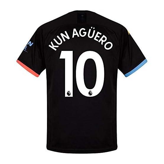 Puma Maillot Manchester City Away Kun Agüero 10 2019-2020 (Impression Officielle Premier League)