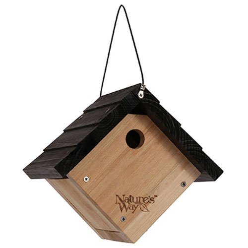 Bird Cedar House (Nature's Way Bird Products CWH1 Cedar Wren House, 8