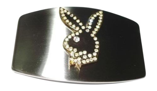 Playboy Belt Buckle (Famous Playboy Bunny Rhinestone Chrome Belt Buckle)