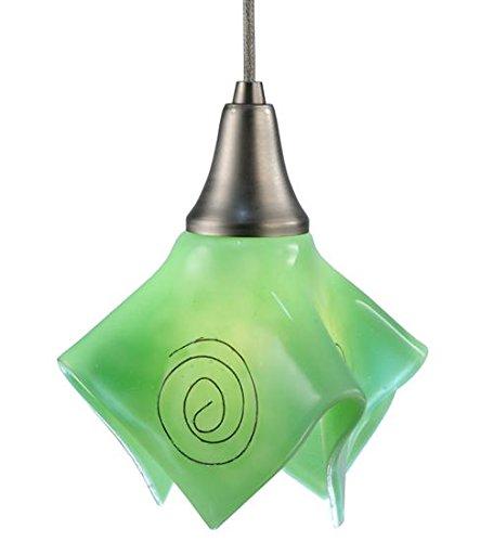 - Meyda Tiffany 115826 Metro Fusion Fiddleheads Handkerchief Mini Pendant, 8