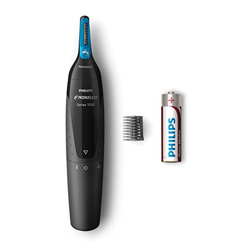 Philips Norelco Nose trimmer 1500, NT1500/49, with 3 pieces for nose, ears and eyebrows