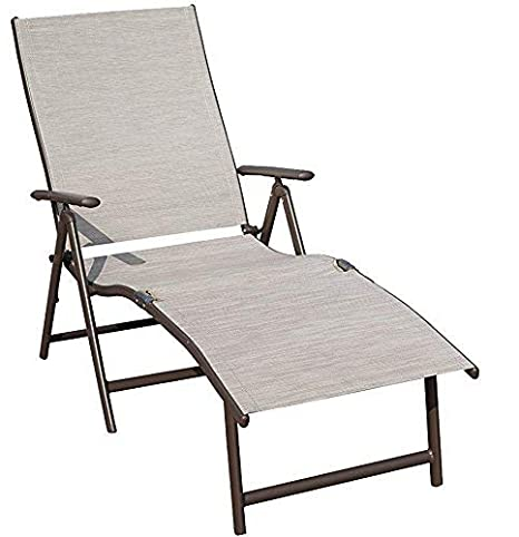 Brilliant Kozyard Cozy Aluminum Beach Yard Pool Folding Reclining Adjustable Chaise Lounge Chair 1 Pack Beige Unemploymentrelief Wooden Chair Designs For Living Room Unemploymentrelieforg