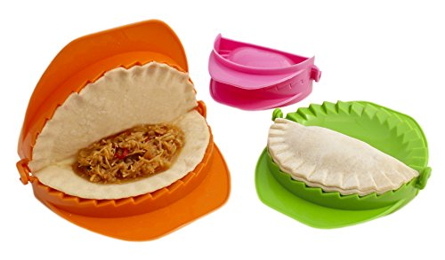 Zoie + Chloe 3-Piece Dough Press Set - Dumpling Calzone Ravioli Empanada Turnover Pierogi -