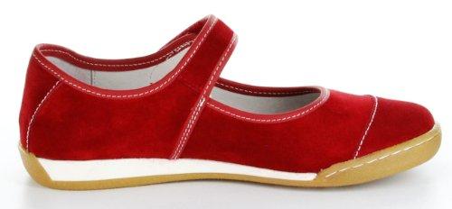Josef Seibel Halbschuhe rot Velour-Leder Lederdecksohle Damen Schuhe Anja 02 Rot