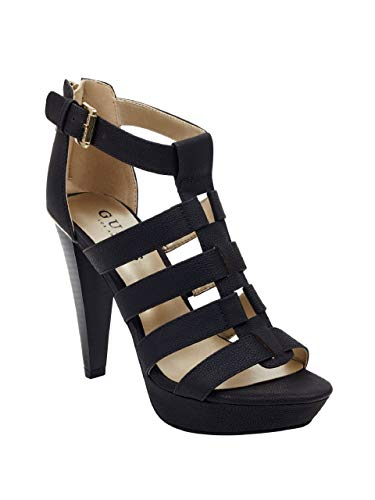 GUESS Factory Women's Nancee Gladiator Platform Heels Black