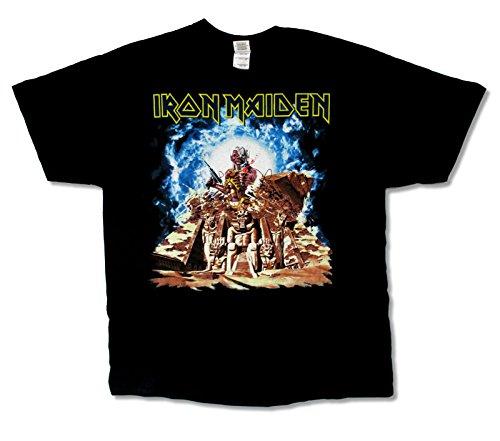 - Iron Maiden Ed Breaking Pyramid USA CDN Tour 2012 Mens Black T Shirt (2X)