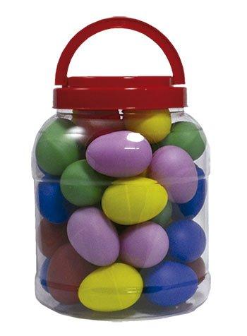 Bote 20 pares huevos plástico Colores Variados: Amazon.es ...