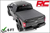 Rough Country Tri-Fold Fits 2016-2019 [ Toyota ] Tacoma Truck Bed Tonneau Cover (6 FT, Soft Folding)