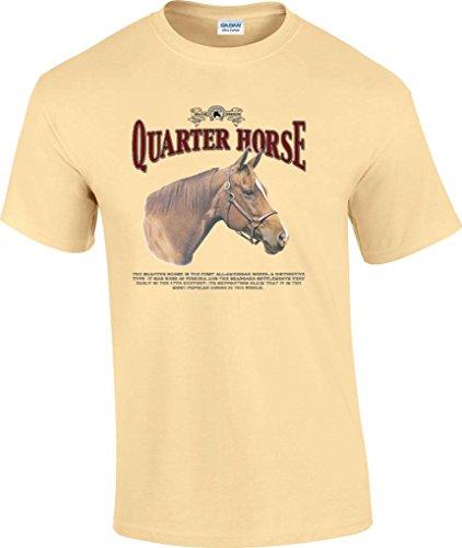 T-ShirtQueen Men's Quarter Horse History T-Shirt X-Large Yellow ()
