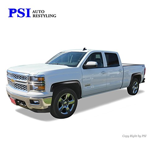 PSI Auto Restyling 800-0117 OEM Style Fender Flares; Front And Rear; Flare Width OEM; Tire Coverage OEM; Smooth Black; Will Have Gas Cap Cutout On Driver Side Rear