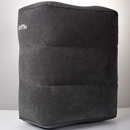 [해외]풋 레스트 비행기 베개 발 어 【 내구성 접속 】 일본어 설명서 첨부 1 년 보증 기간 다크 그레이 (3 색) / Footrest Airplane Pillow Foot Rest Air [Durability U