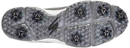 Skechers Men's Pro 4 Waterproof Golf Shoe, Charcoal Textile, 10.5 M US