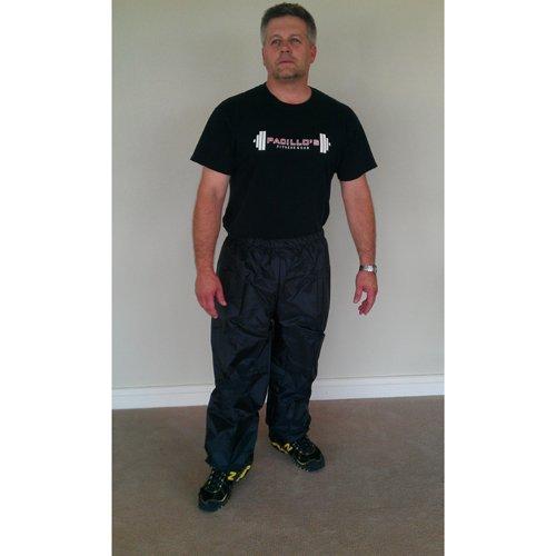 Nylon Black Sauna Suit Pants - 5XL