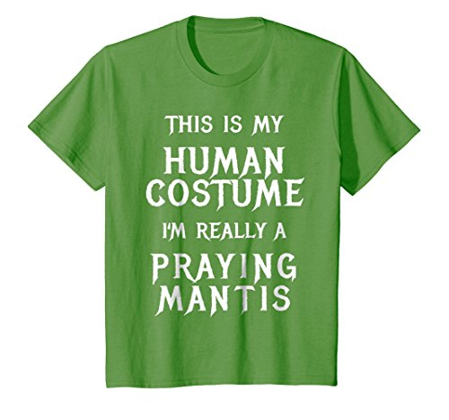Kids Praying Mantis Halloween Costume Shirt Easy Funny Gift Idea 6 Grass ()