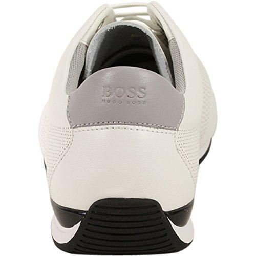 Hugo Boss Mens Saturn Memory Foam Scarpe Da Ginnastica Sneakers Bianche