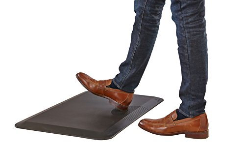 Safco Products Movable Anti Fatigue Mat 2110BL, Comfortable for Use with Standing or Adjustable Height Desks, Helps Increase Activity, Easy to Move and Clean, Black by Safco Products