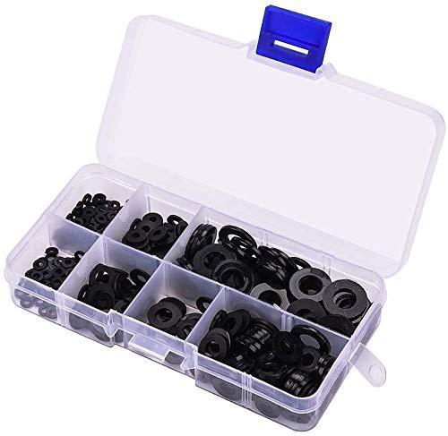 350Pcs Nylon Flat Washer Assortment Kit For M2//M2.5//M3//M4//M5//M6//M8 Screw Bolt