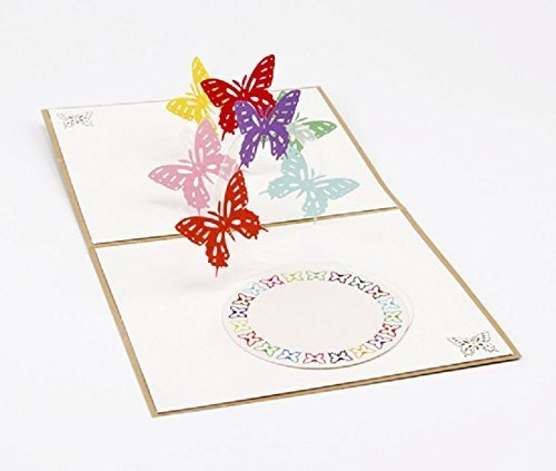 BC Worldwide Ltd Tarjeta pop-up 3D hecha a mano mariposa ...