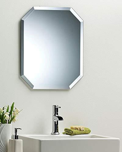 Quality Glass Frameless Decorative Mirror | Mirror Glass for Wall | Mirror for bathrooms | Mirror in Home | Mirror Decor | Mirror Size : 18 inch x 24(QG-FL-013)