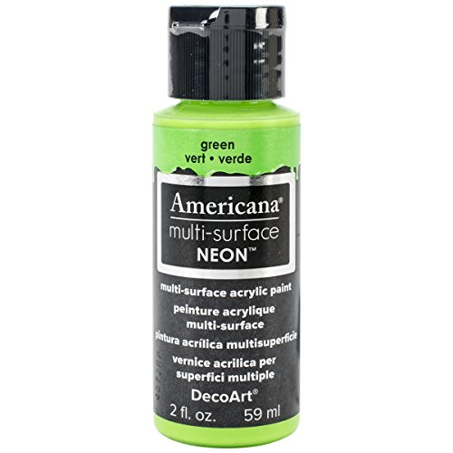 DecoArt Americana Multi-Surface Neon Paint, 2-Ounce, Green (Green Neon Paint compare prices)