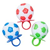 Primary Colors Soccer Lollipop Rings (3 Count)