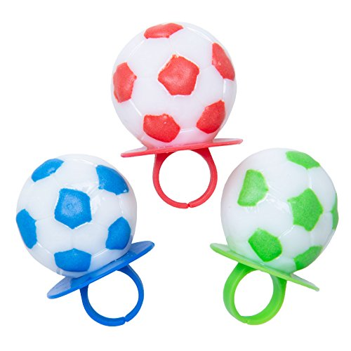 Primary Colors Soccer Lollipop Rings (3 Count) by Primary Colors