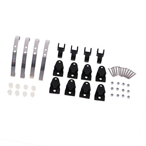 CUTICATE RC Lifting Lug Ear w/ Screws Accessories Kit for WPL 4/6WD Military RC Truck Upgrade Parts DIY - Black, as described