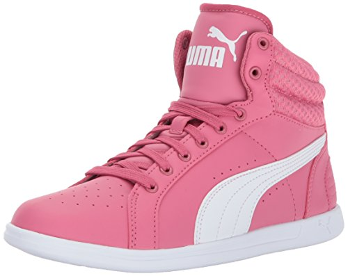 PUMA Kids' Ikaz Mid v2 Sneaker,Rapture Rose White,5.5 M US Big Kid