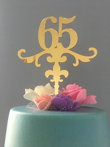 ShinyBeauty Birthday-Cake-Topper-Numbers, Anniversary Cake Topper (65th)