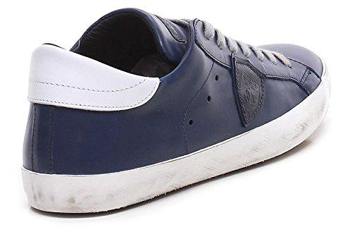 Paris 1002 Sneaker Paris Stile 1002 CLLU Uomo Model Scarpe CLLU Philippe White Codice Blue Primavera Estate Pelle Nuovo 2018 Sneaker 46AZqWw