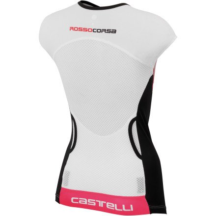 Castelli Free Tri Capsleeve Top - Women's White/Black/Pink, S by Castelli (Image #1)
