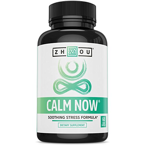 (CALM NOW Soothing Stress Support Supplement, Herbal Blend Crafted To Keep Busy Minds Relaxed, Focused & Positive; Supports Serotonin Increase; Hawthorn, Ashwagandha, Rhodiola Rosea, B Vitamins & More)