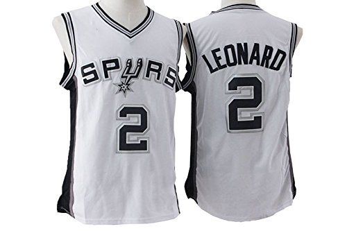 Mens Kawhi Leonard #2 San Antonio Spurs White New Stitched Basketball Jersey Size L