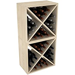 "Creekside 24 Bottle Stackable Wine Cubes (Set of 2), 12"" Deep, Pine"