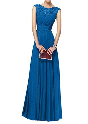 Brautmutterkleider Weinrot Charmant Rock Partykleider Lang Blau Chiffon Abendkleider Abiballkleider Damen Spitze qTq5XwnxAB