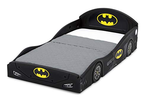 DC Comics Batman Batmobile Car Sleep and Play Toddler Bed with Attached Guardrails by Delta Children 7