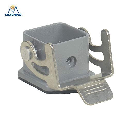 Ip65 Bulkhead - Davitu H3A-ST-1L Industrial Grey Color Bulkhead Mounting Size 3A IP65 Hoods Heavy Duty Connector