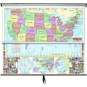 Amazoncom Universal Map USWorld Large Scale Combo Wall - Amazon map of us