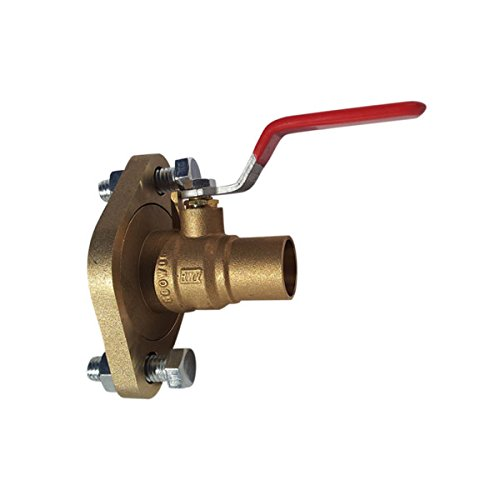 Red-White Valve 34RW2419 Brass Full Port Pump Flange Ball Valve, 3/4'' by Red-White Valve