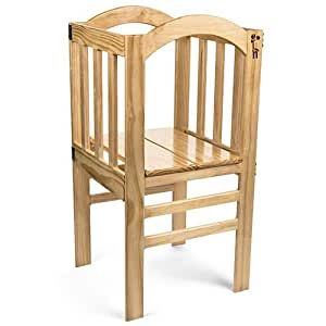 True Growth - True Tot Tower - Kids or Toddler Learning Tower and Step Stool - Wood Construction - Varnished