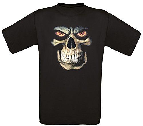 Skull Gothik Bones Horror T-Shirt in Größe S bis 5XL