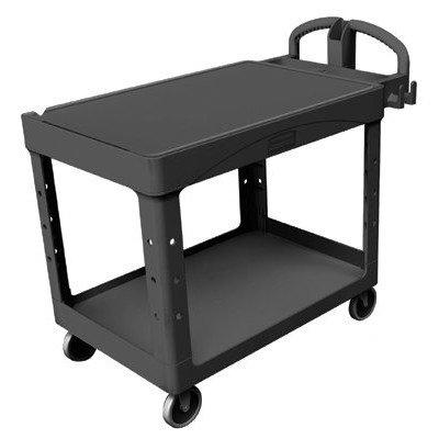 Bla 2 Shelf Utility Cart (Rubbermaid Commercial - Heavy-Duty Flat Shelf Utility Carts Hd Flat 2 Shelf Utilitycart Large: 640-4545-Bla - hd flat 2 shelf utilitycart large)
